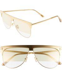 1f5ee388acc0e Tom Ford - Winter 62mm Rectangular Sunglasses - Rhodium  Grey  Clear W  Silver -