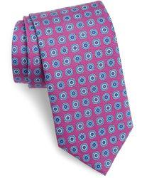 David Donahue Medallion Silk Tie - Multicolor