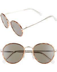 Le Specs - Zephyr Deux 50mm Round Sunglasses - - Lyst