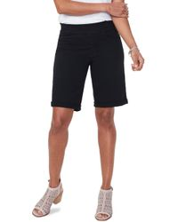 NYDJ Roll Cuff Pull-on Denim Shorts - Black