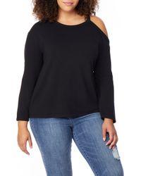 REBEL WILSON X ANGELS Cold Shoulder Sweatshirt - Black