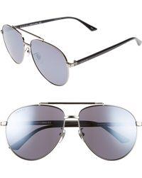 5d43b68d55a72 Lyst - Tom Ford  cliff  61mm Aviator Sunglasses - Ruthenium  Smoke ...