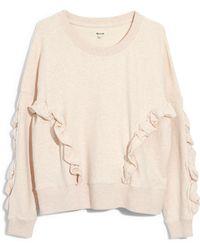 Madewell - Ruffle Sweatshirt - Lyst