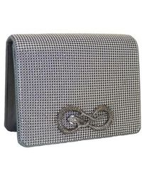 Whiting & Davis - Serpent Seville Mesh Clutch - Metallic - Lyst