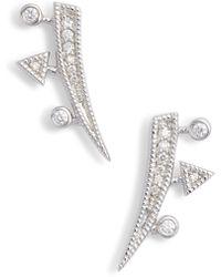 Dana Rebecca Diamond Ear Crawlers - Metallic