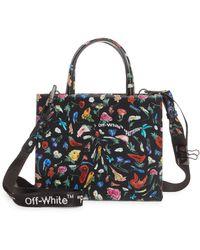 Off-White c/o Virgil Abloh Drunken Flower Mini Box Leather Top Handle Bag - Multicolor