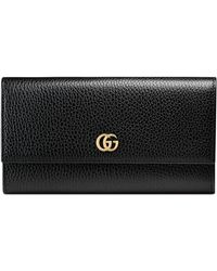 Gucci - Marmont Leather Continental Wallet - - Lyst