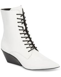 Calvin Klein Jeans - Faith Pointy Toe Laced Bootie - Lyst