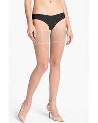 dabcab18c Lyst - Donna Karan Signature Chantilly Lace Thigh High Stockings in ...