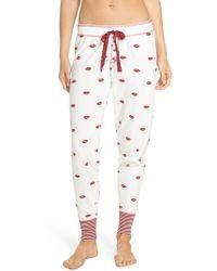 Pj Salvage | Lip Print Pyjama Trousers | Lyst