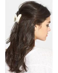 France Luxe Small Couture Jaw Clip - White