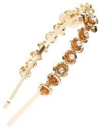 Tasha - Crystal Embellished Flower Headband - Lyst