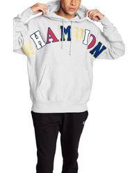 Champion - Old English Script Cotton Blend Hoodie - Lyst