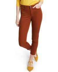 ModCloth Colored Crop Skinny Jeans (regular & Plus Size) - Brown