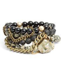 THE LACE PROJECT | Set Of 4 Bead Stretch Bracelets | Lyst