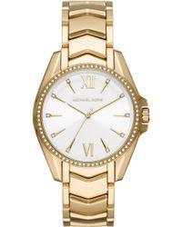 Michael Kors Whitney Gold-tone Watch - Metallic