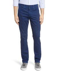AG Jeans Everett Sud Slim Straight Leg Pants - Blue