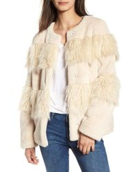BCBGeneration - Mixed Faux Fur Jacket - Lyst