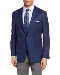 Hickey Freeman - Beacon Global Guardian Classic Fit Wool Blazer - Lyst