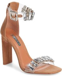 TOPSHOP - Rogue Crystal Embellished Clear Sandal - Lyst