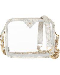 Kelly Wynne Clear Mingle Mingle Mini Crossbody Bag - White