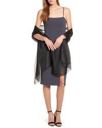 e88ea3f7fc0 Lyst - Nordstrom 1901 Plaid Midi Shirtdress in Black