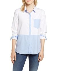 Vineyard Vines - Colorblock Relaxed Oxford Blouse - Lyst