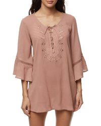 O'neill Sportswear Saltwater Solids Tunic Cover-up - Brown