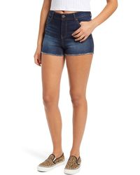 1822 Denim - Re:denim High Waist Fray Hem Shorts - Lyst
