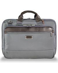 Briggs & Riley Medium Slim Briefcase - Gray