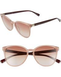Longchamp Le Pliage 53mm Gradient Cat Eye Sunglasses - Nude Burgundy/ Grey