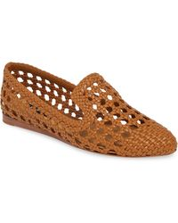 Veronica Beard Griffin Woven Loafer - Brown