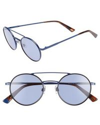Web - 50mm Aviator Sunglasses - Shiny Blue/ Blue - Lyst