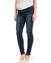 PAIGE - Transcend Verdugo Skinny Maternity Jeans - Lyst