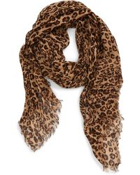 Madewell Literal Leopard Print Scarf - Brown