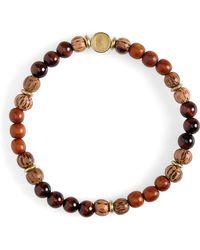 Caputo & Co. - Stone & Wood Bead Bracelet - Lyst