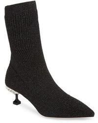 Miu Miu - Crystal Embellished Sock Bootie - Lyst