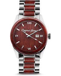 Original Grain - Rosewood Chrome Classic Bracelet Watch - Lyst