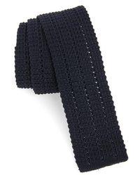 Eleventy - Solid Skinny Woven Silk Tie - Lyst