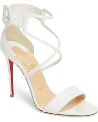 62a4cedd857c Lyst - Christian Louboutin Strappy Heel Sandal in Pink
