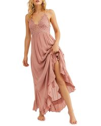 Free People Adella Maxi Slipdress - Pink