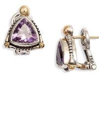 Konstantino Delos Triangle Stone Stud Earrings - Multicolor