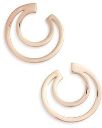 Vince Camuto - Polished Curved Hoop Earrings - Lyst