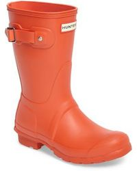 Hunter | 'original Short' Rain Boot | Lyst