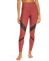 Hurley Quick Dry Mesh Leggings - Red