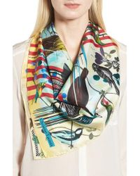 Christian Lacroix - Sinfonia Silk Square Scarf - Lyst