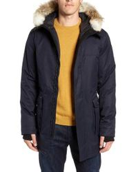 Nobis - Yves Windproof & Waterproof 650 Fill Power Down Parka With Genuine Coyote Fur Trim - Lyst
