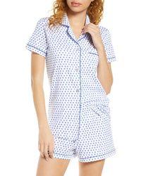 Roberta Roller Rabbit Heart Short Pajamas - Blue