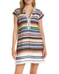 Bleu Rod Beattie - Under Cover Stripe Cover-up Dress - Lyst