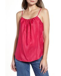 7 For All Mankind - 7 For All Mankind Shirred Camisole - Lyst